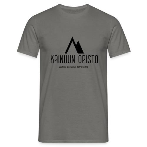 Kainuun Opisto 110v logo (korkea, musta) - Miesten t-paita