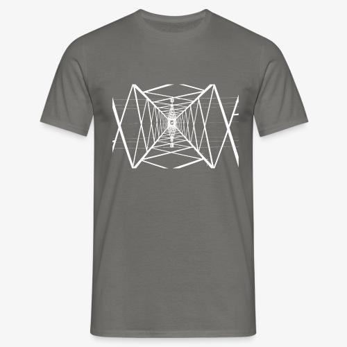Quermast V2 Weiß - Männer T-Shirt