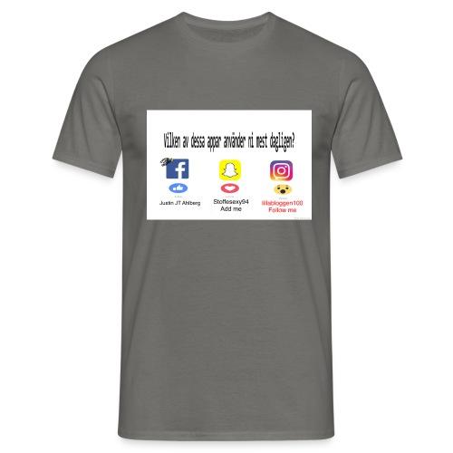 Justin Ahlberg - T-shirt herr