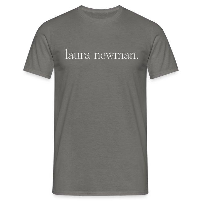 laura newman. Logo | white