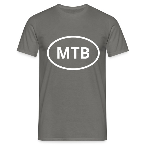 MTB | Mountain Bike Oval Logo - Men's T-Shirt