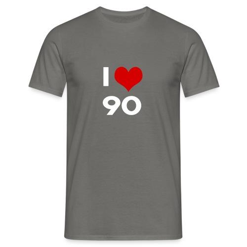 I love 90 - Maglietta da uomo