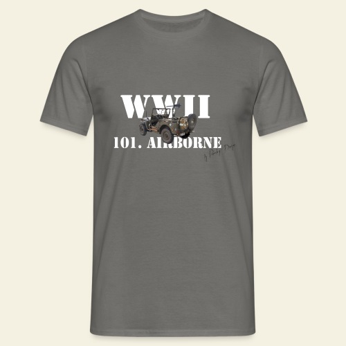 101 airborne png - Herre-T-shirt
