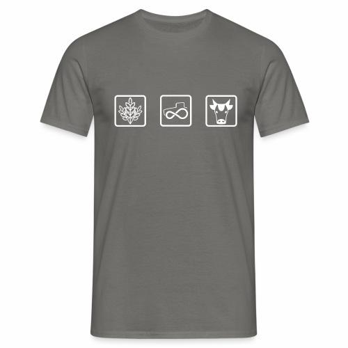Farmer's icons WHITE - Maglietta da uomo