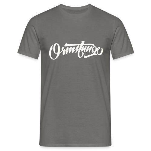 Ormstunge logo hvit - T-skjorte for menn