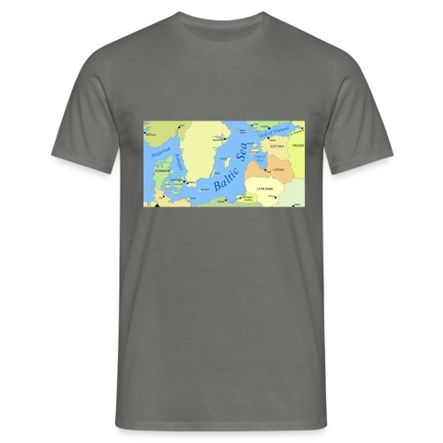 Baltic Sea Map - Men's T-Shirt