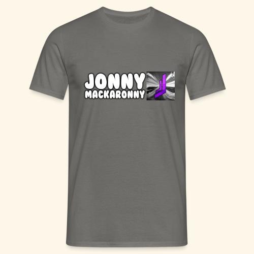 JonnyMackaronny Tekst med Logo - T-skjorte for menn