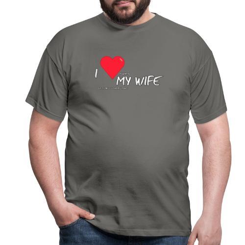 Love my wife heart - Mannen T-shirt