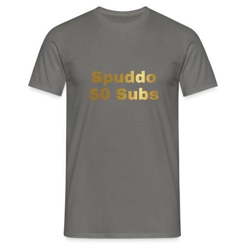 Spuddo 50 Subs Merch - Men's T-Shirt