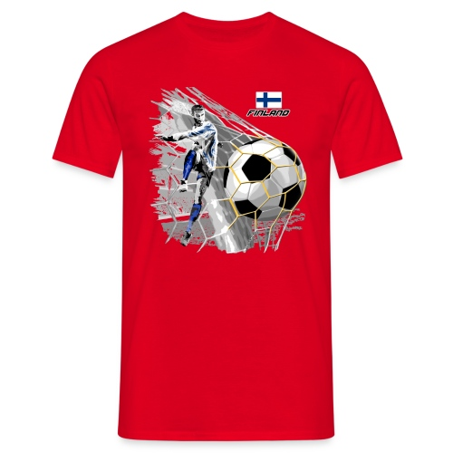 FP22F 05 FINLAND FOOTBALL - Miesten t-paita