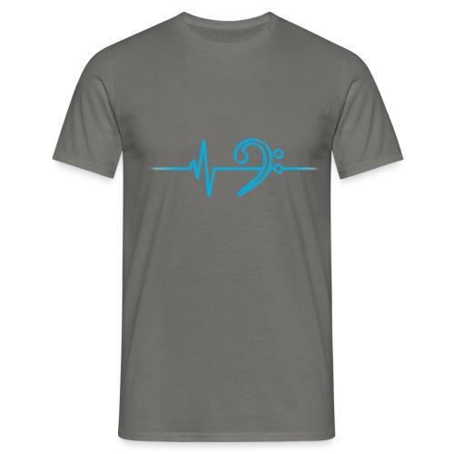 LowHeartBeatDouble cyan - Männer T-Shirt