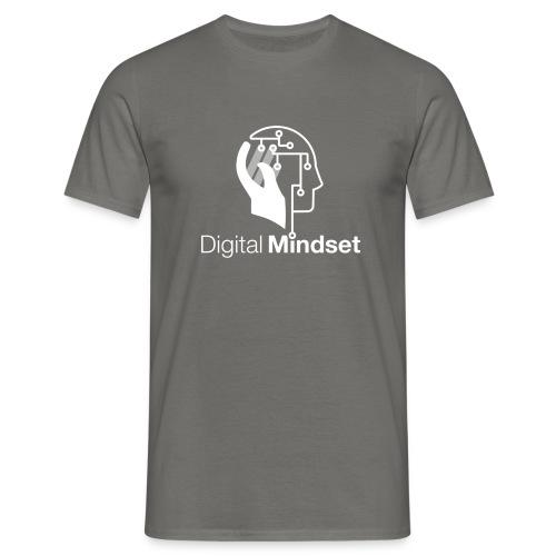 Digital Mindset Logo Weiß - Männer T-Shirt