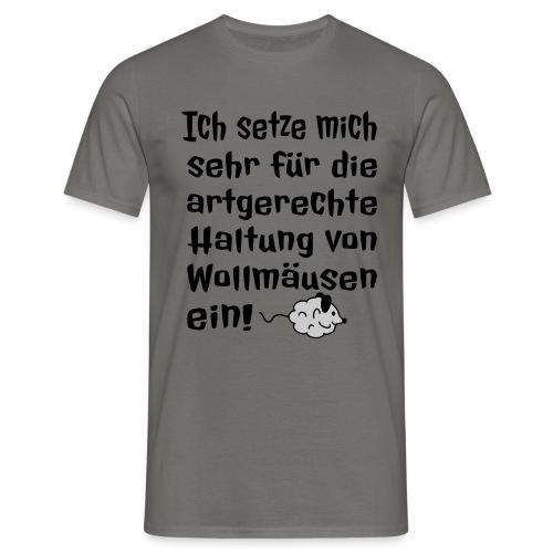 Wollmaus Staub Putzen Haushalt Wohnung Spruch - Männer T-Shirt