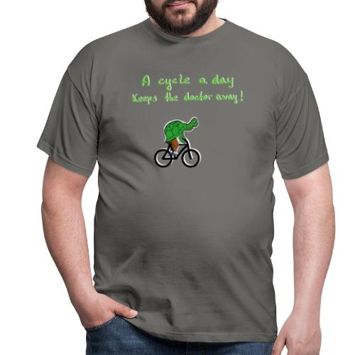 A cycle a day keeps the doctor away - Männer T-Shirt