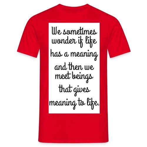 Phrase d'amour en anglais - T-shirt Homme