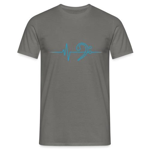 LowHeartBeat cyan - Männer T-Shirt
