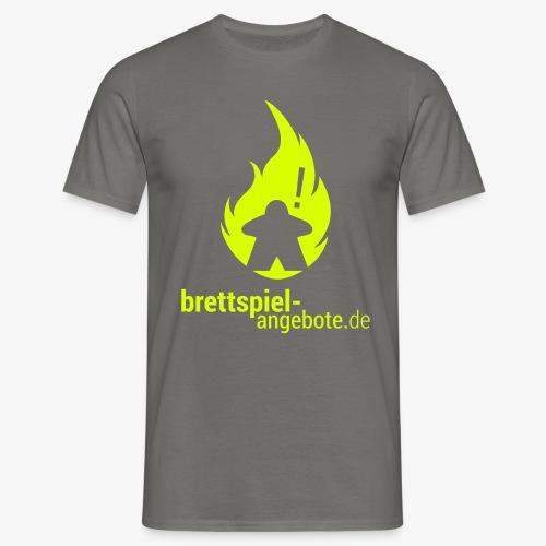 Logo in Neongelb - Männer T-Shirt