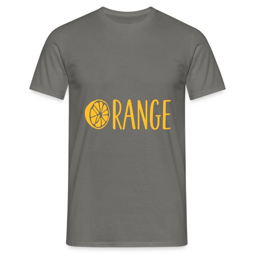 Orange Lettering - Männer T-Shirt
