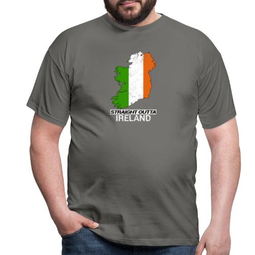 Straight Outta Ireland (Eire) country map flag - Men's T-Shirt