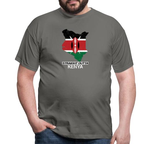 Straight Outta Kenya country map & flag - Men's T-Shirt