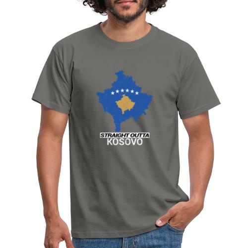 Straight Outta Kosovo country map - Men's T-Shirt