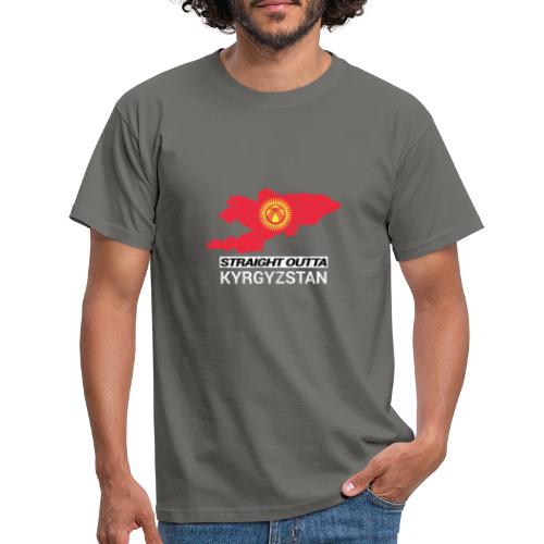 Straight Outta Kyrgyzstan country map - Men's T-Shirt