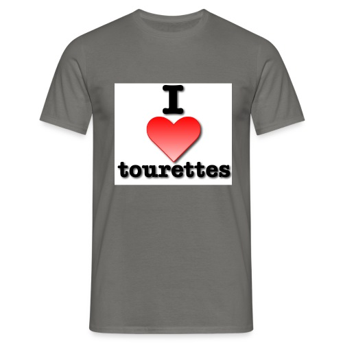 i love tourettes - Men's T-Shirt