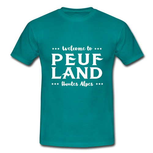 Peuf Land 05 - Hautes-Alpes - White - T-shirt Homme