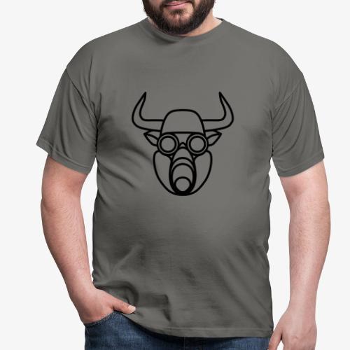 Stier mit Gasmaske - Männer T-Shirt