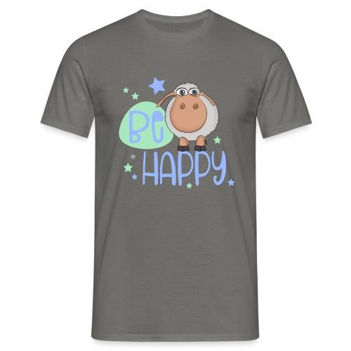 Be happy Schaf - Glückliches Schaf - Glücksschaf - Männer T-Shirt
