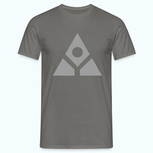 Sacred geometry gray pyramid circle in balance - Men's T-Shirt