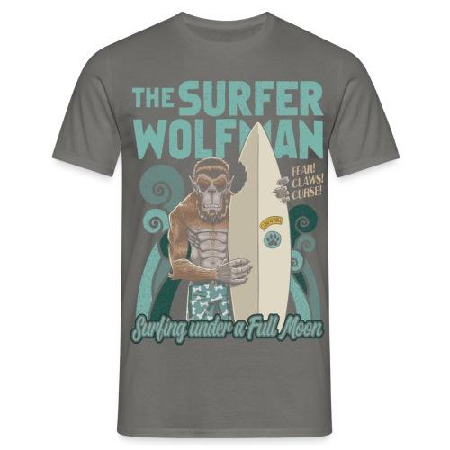 El hombre lobo surfista - Camiseta hombre