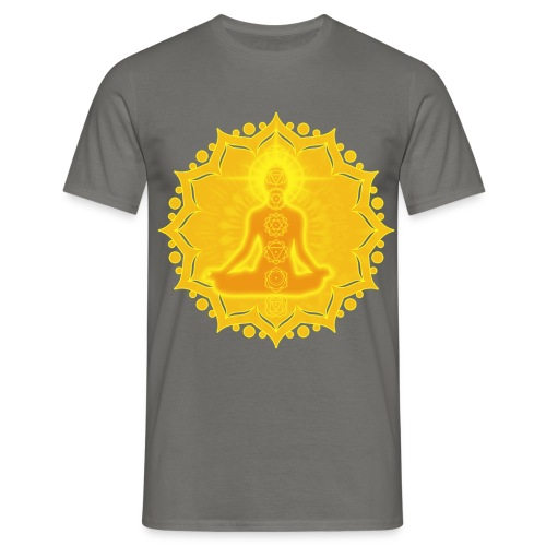 Yoga Lotus Meditation Chakren III - Männer T-Shirt