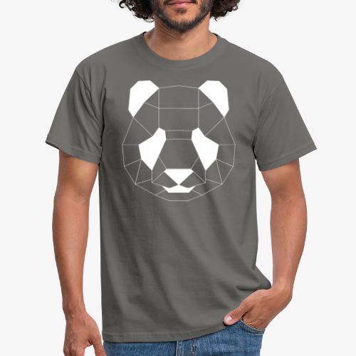 Panda Geometrisch weiss - Männer T-Shirt