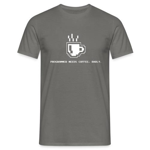 Programmierer Kaffee - Männer T-Shirt
