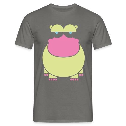 insolent hippo_greenneon - Männer T-Shirt