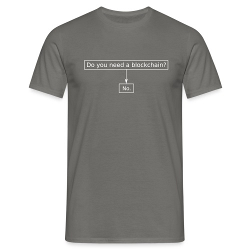 blockchain - Männer T-Shirt