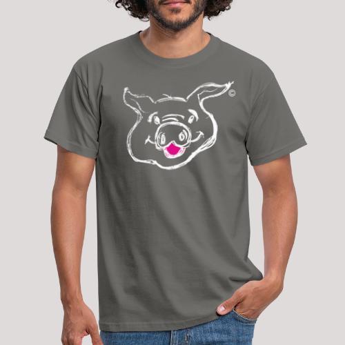 HAPPY PIGPIGGY White - Men's T-Shirt