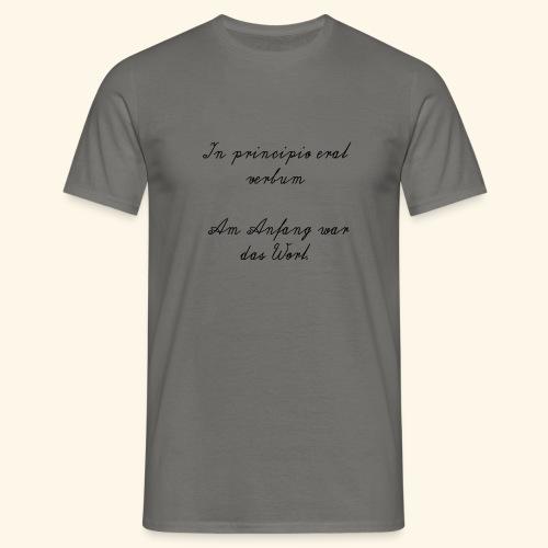 Lateinischer Spruch - Männer T-Shirt