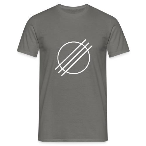 DJ Øyvind Offisiell Logo (hvit) - T-skjorte for menn