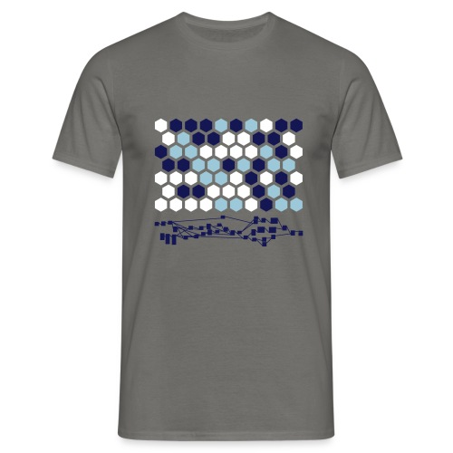 Hexagonal Tiles with Nodetree - Men's T-Shirt
