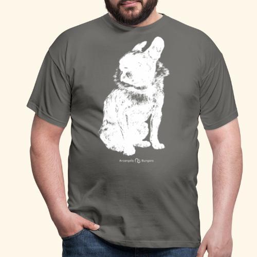 white vintage French Bulldog - T-shirt Homme