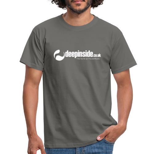 DEEPINSIDE The home of House-Music (White) - Men's T-Shirt