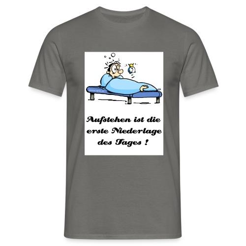 aufstehen schwarz gerade - Männer T-Shirt