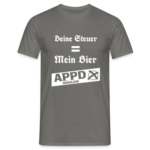 Deine Steuer ist mein Bier2 - Männer T-Shirt