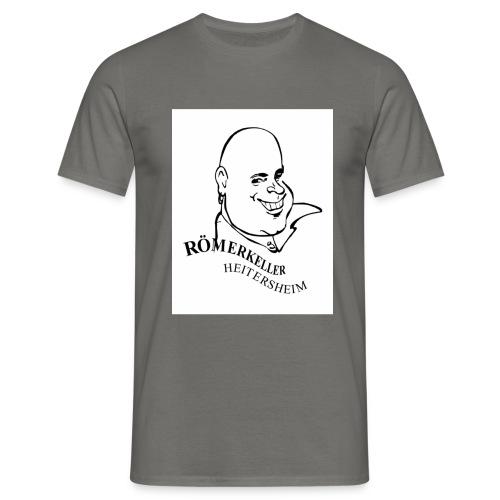 Roemerkeller weiss Logo Kopf jpg - Männer T-Shirt