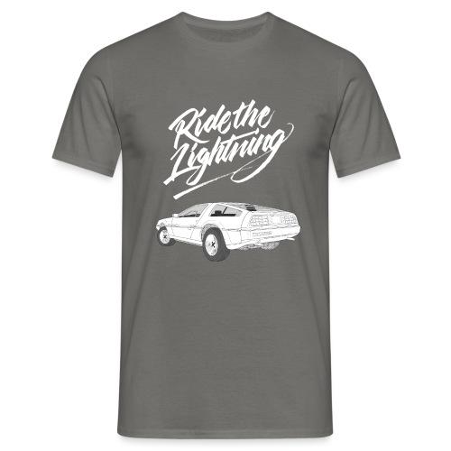 Delorean – Ride The Lightning - Männer T-Shirt