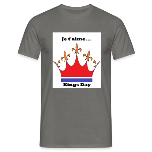 Je taime Kings Day (Je suis...) - Mannen T-shirt