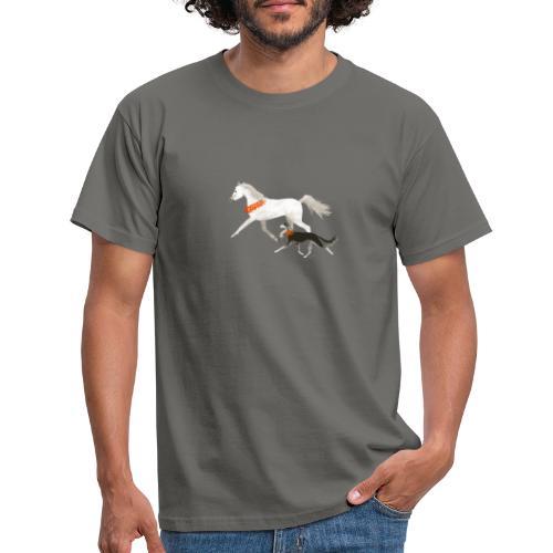 Saluki und Pferd - Männer T-Shirt