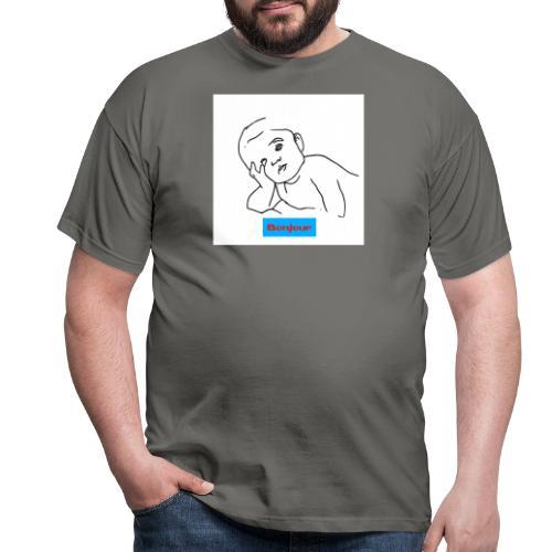 Bonjour - Männer T-Shirt